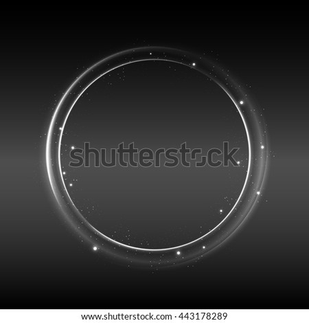 Abstract black and white Space landscape background for design - stock photo