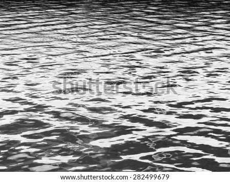 abstract black and white wave water texture,background - stock photo