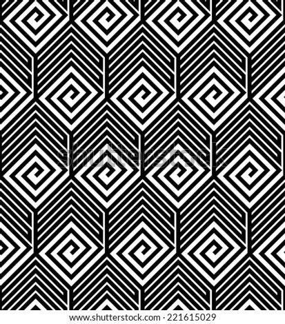 Abstract Black and White ZigZag Seamless Pattern