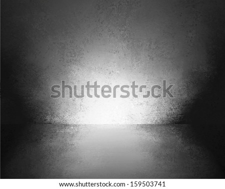 abstract black background empty room interior wall floor reflection illustration or 3d box display showcase for product ad brochure layout, vintage grunge background texture, blank stage or studio - stock photo