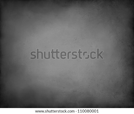 abstract black background gray gradient border with burnt edges on frame of wallpaper with vintage grunge paper texture, black and white background monochrome old vignette design for printing brochure - stock photo