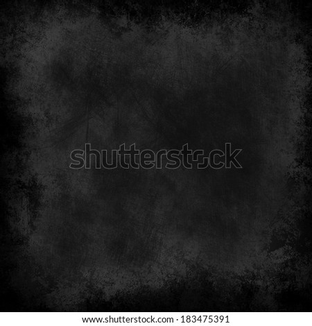 abstract black background, old black vignette border frame on white gray background, vintage grunge background texture design - stock photo