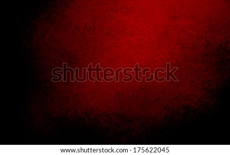 abstract black background red dramatic spotlight, rough texture or distressed vintage texture, grunge paper, wall texture, elegant brochure or website template design, painted canvas banner for web - stock photo