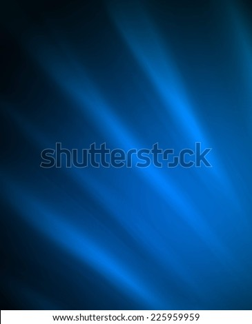 abstract black blue background design, bright blue streaks of light on dark black color - stock photo