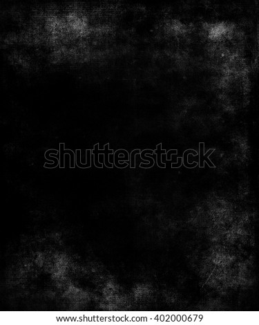 Abstract black grunge texture background, scary dark background with frame