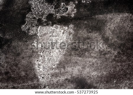 Abstract black hand painted watercolor texture. Abstract aquarelle background.