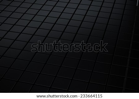 Abstract black metallic cube background