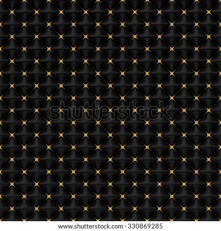 Abstract Black Pyramids with Gold Stars square pattern