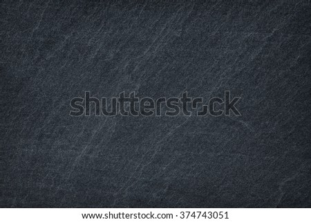 abstract black slate stone background or texture - stock photo