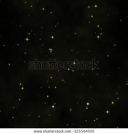 Abstract Black Space seamless background texture with stars - stock photo