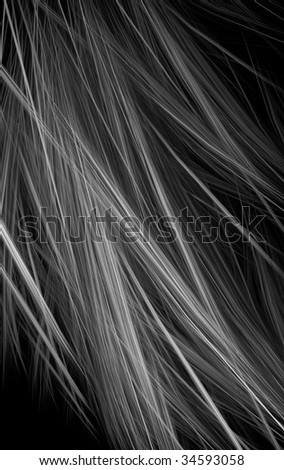 Abstract black & white fractal