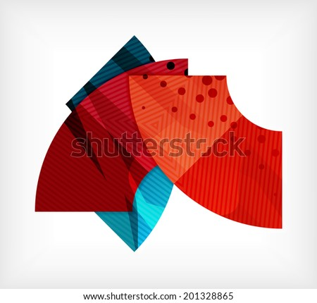 Abstract blank banner design template made of pieces geometric shapes