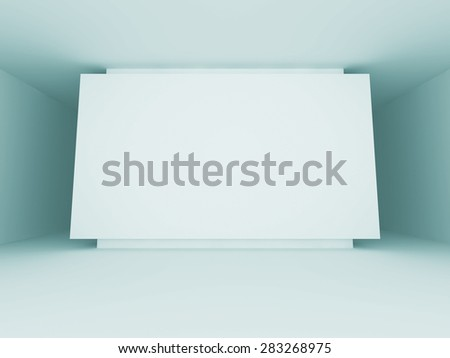 Abstract Blank Banner Interior Architecture Background. 3d Render Illustration - stock photo