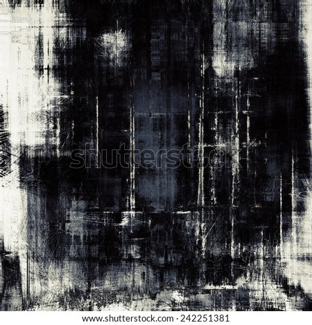Abstract blank grunge background, old texture with stains and different color patterns: black; gray - stock photo