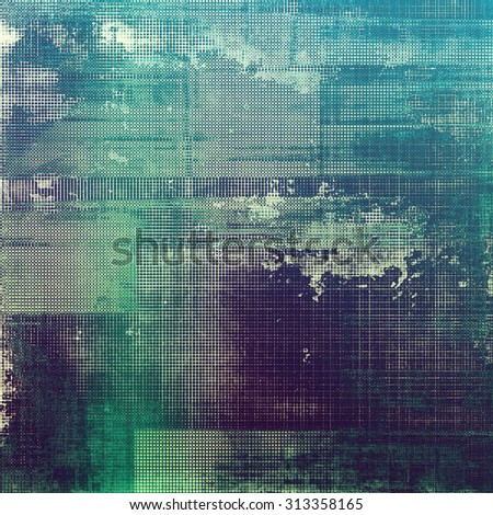 Abstract blank grunge background, old texture with stains and different color patterns: blue; purple (violet); cyan; green - stock photo
