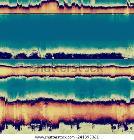 Abstract blank grunge background, old texture with stains and different color patterns: purple (violet); cyan; blue; gray; yellow (beige) - stock photo