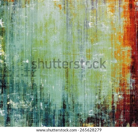 Abstract blank grunge background, old texture with stains and different color patterns: yellow (beige); brown; red (orange); green - stock photo