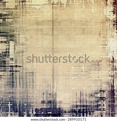 Abstract blank grunge background, old texture with stains and different color patterns: yellow (beige); brown; gray; black - stock photo
