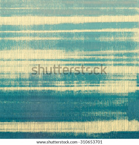 Abstract blank grunge background, old texture with stains and different color patterns: yellow (beige); blue; cyan - stock photo