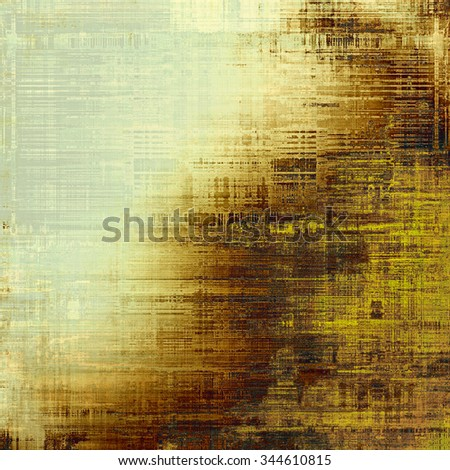 Abstract blank grunge background, old texture with stains and different color patterns: yellow (beige); brown; gray - stock photo