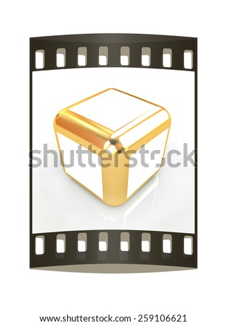 Abstract block 3d. The film strip - stock photo