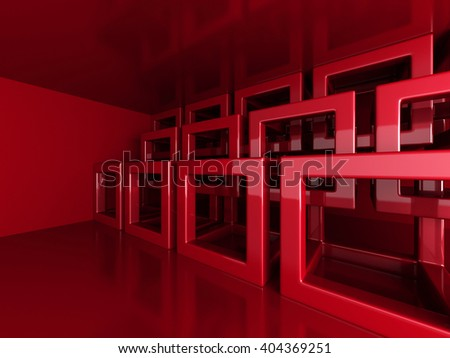 Abstract Blocks Architecture Design Background. 3d Render Illustration - stock photo