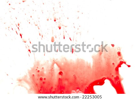 Abstract blood on white background - stock photo