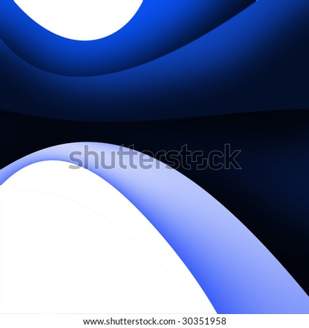 Abstract Blue - stock photo
