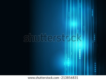Abstract Blue aircraft technology communicate background, illustration