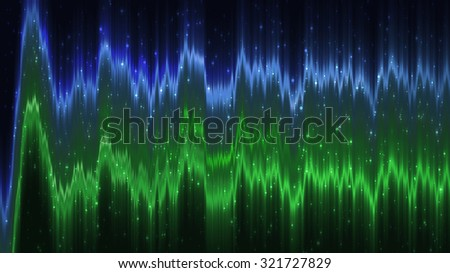 Abstract blue and blue elegant background with glitter and waves