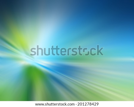 Abstract Blue and green background - stock photo