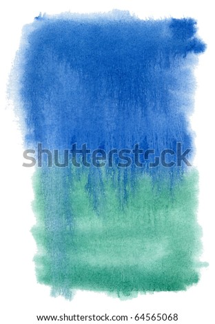 abstract blue and green watercolor background