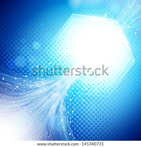 abstract blue and light background.