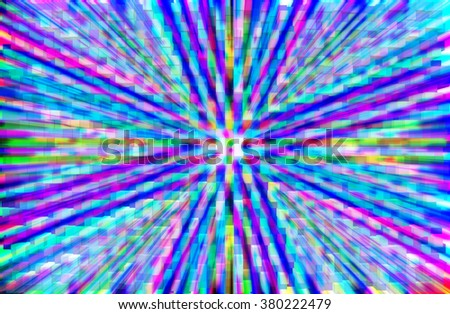abstract  blue and pink  color background with motion blur and square block