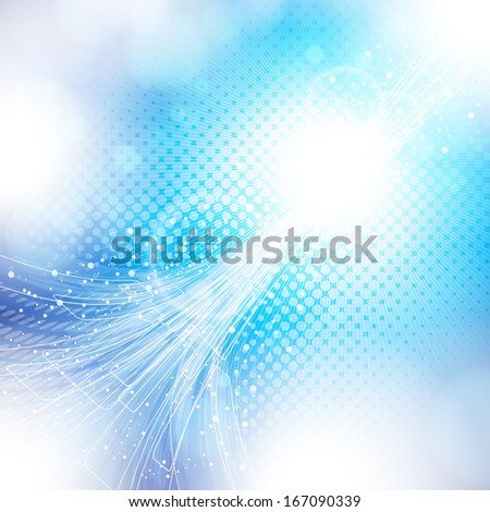 abstract blue and white background.