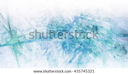 abstract blue and white background with paint splashes and marbled texture, expressionism style paint drips mixed with watercolor paint blotches - stock photo