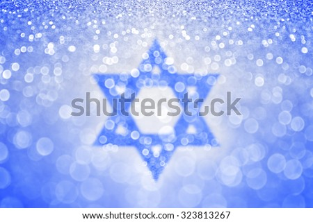 Abstract Blue White Jewish Hanukkah Star Foto Stock ...