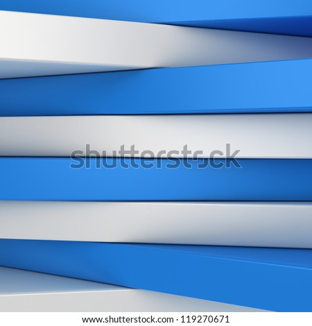 Abstract blue and white panels with copyspace for text, etc OR just 3D background