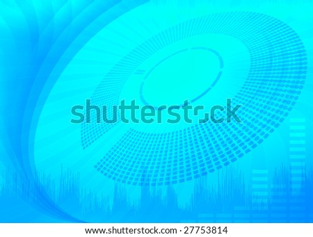 Abstract blue audio background