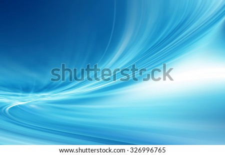 Abstract blue background, beautiful lines and blur - stock photo