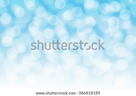 Abstract blue background bokeh.