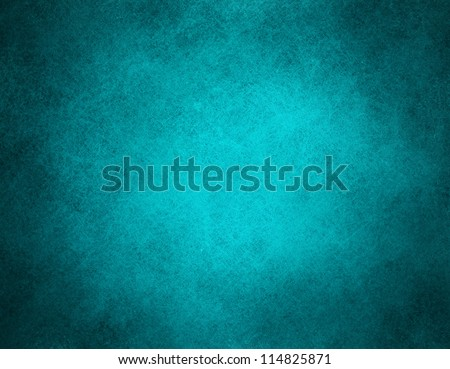 abstract blue background classic dark paper, bright center spotlight, vintage grunge background texture, black paper edge layout design ad, website template banner, elegant background teal color page - stock photo