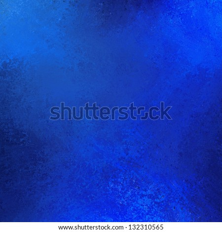 abstract blue background dark sky color vintage grunge background texture, rough distressed sponge grungy painted wall illustration in royal sapphire blue, shiny metallic style decor, brochure poster - stock photo