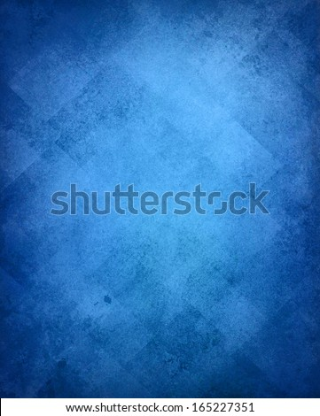 abstract blue background image pattern design on old vintage grunge background texture, blue paper diagonal block pattern with geometric shapes and line design elements, luxury background card, web ad - stock photo