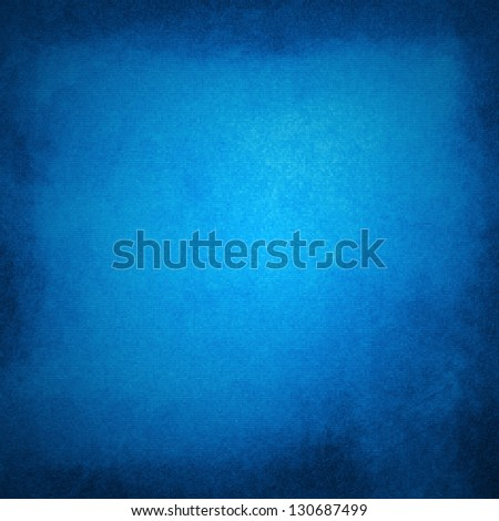 abstract blue background of elegant dark blue vintage grunge background texture black on border with light center blank for luxury brochure - stock photo
