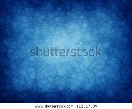 abstract blue background or blue paper with vintage grunge background texture of glassy bright center spot and black edges for brochure or web template background layout design - stock photo