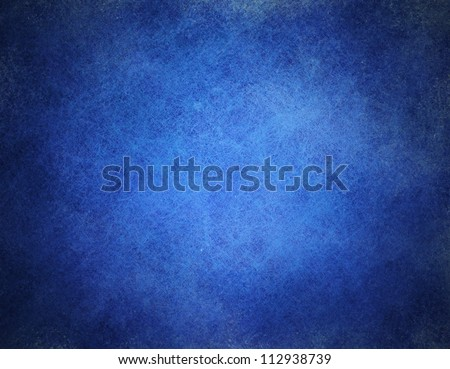 abstract blue background or dark paper with bright center spotlight and black vignette border frame with vintage grunge background texture black paper layout design of light blue graphic art - stock photo