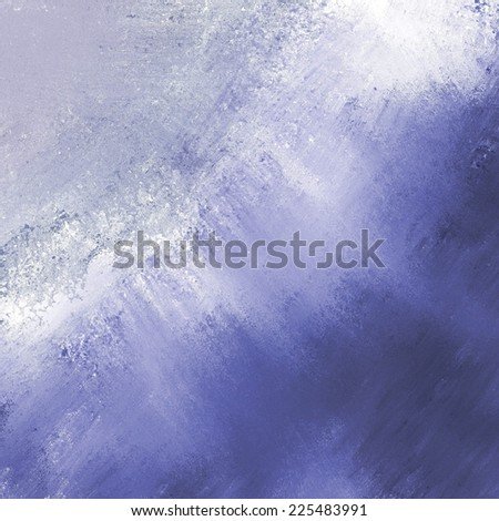 abstract blue background pale stripe of light messy white grunge paint on dark blue washed out color border corner - stock photo