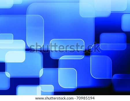 abstract blue background - rectangles - stock photo