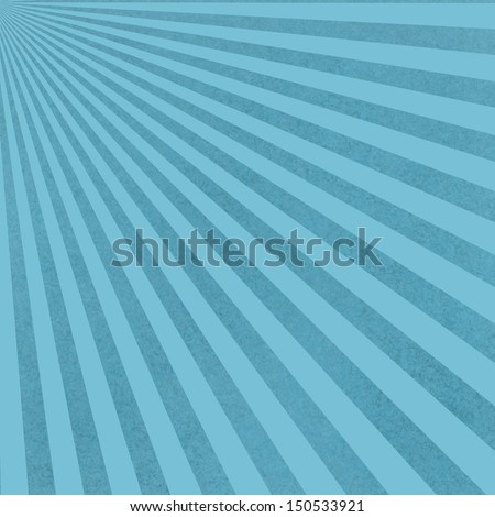 abstract blue background sunburst pattern with vintage grunge background texture design of striped radial pattern or starburst for web background templates, retro brochure background, or baby boy - stock photo